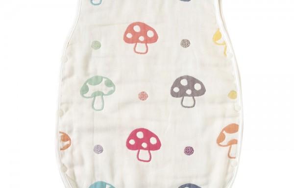 【日本製】Hoppetta-六層紗蘑菇防踢背心(嬰童)