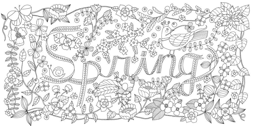 美麗四季主題可愛圖案著色繪圖集2